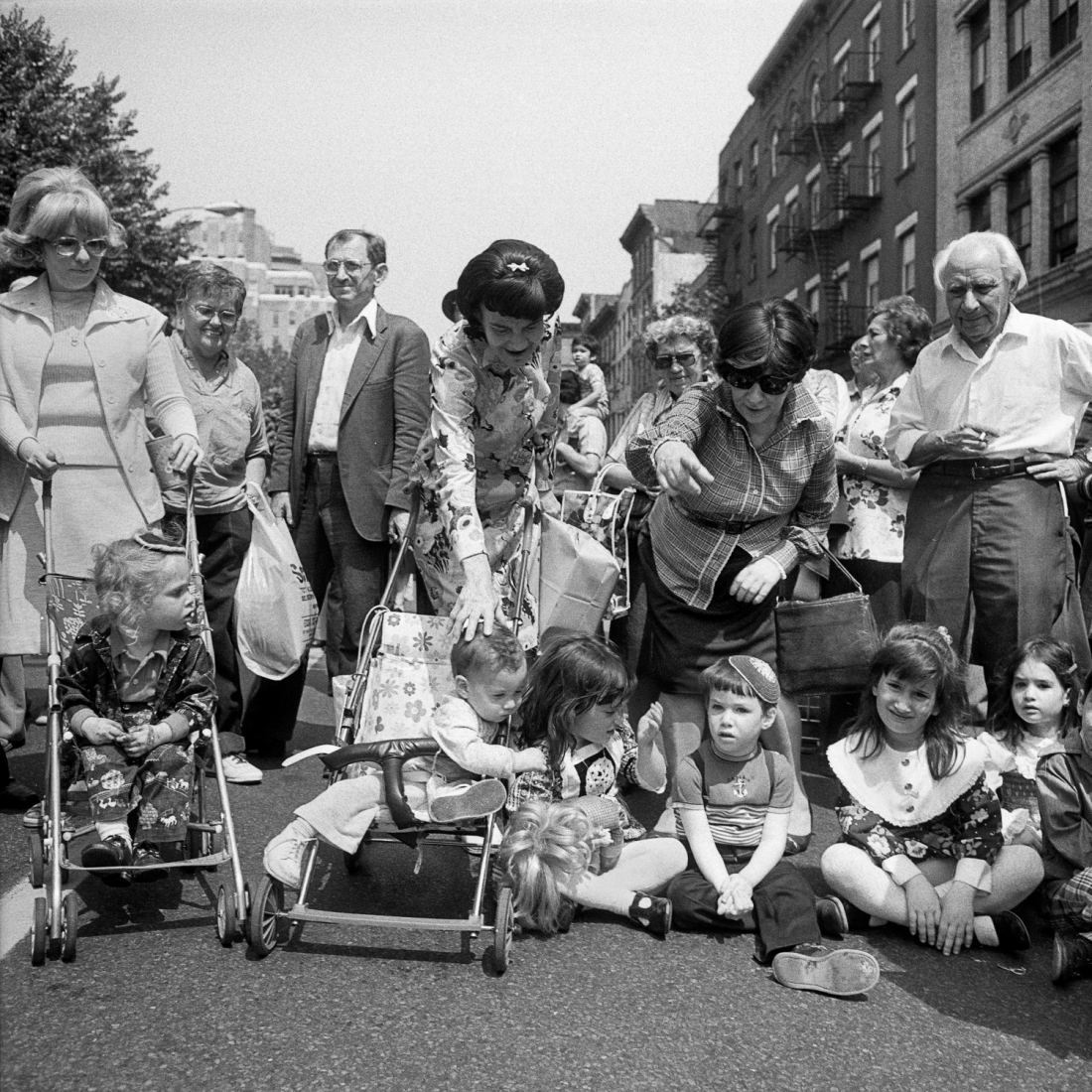 Baby Carriages, Children and Adults at The Lower East Side Street Festival, NY, June 1978 © Meryl Meisler