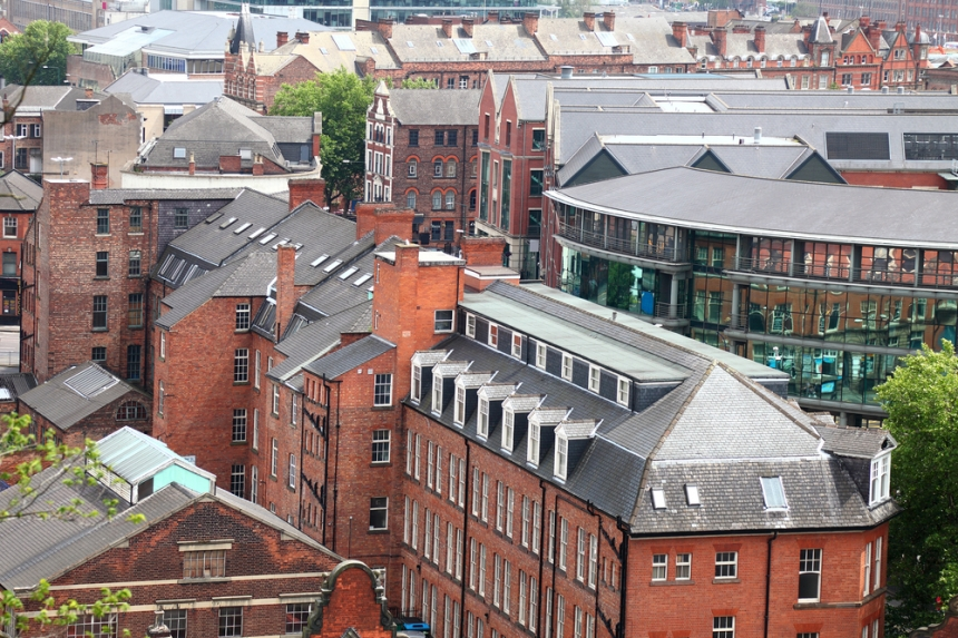 The red brick building of Nottingham. Image Credit: [Shutterstock.com](http://www.shutterstock.com)