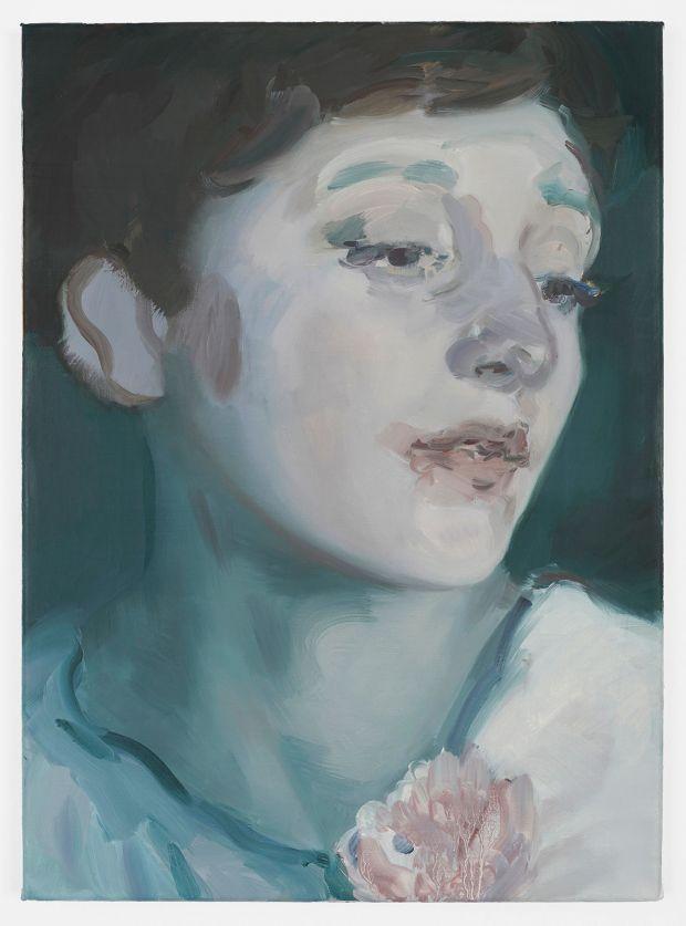 Kaye Donachie Silent As Glass, 2018 oil on linen 55 x 40 cm © Kaye Donachie, courtesy Maureen Paley, London