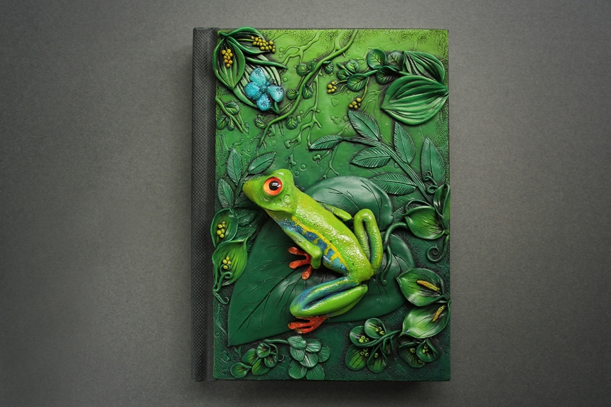Fantasy Book Cover Tutorial ~ Incredibly detailed journal covers crafted entirely from