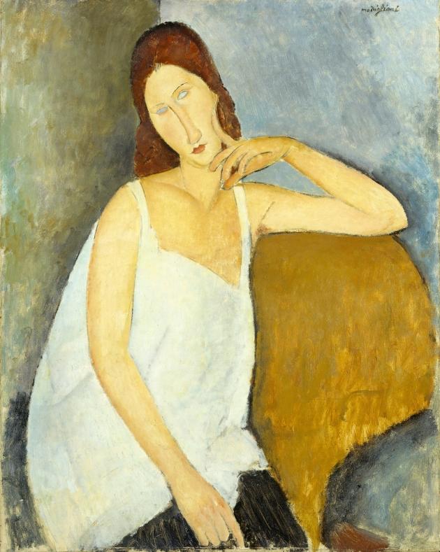 Jeanne Hébuterne 1919  Medium Oil paint on canvas 914 x 730 mm The Metropolitan Museum of Art, New York