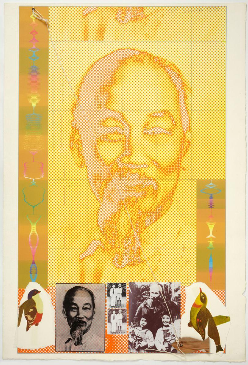 Joe Tilson Ho Chi Minh, 1970 screenprint Courtesy Marlborough Fine Art