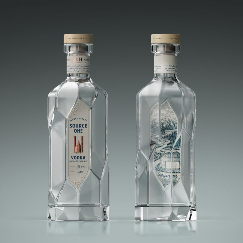 Source One Vodka Spirits and Alcohol by Aether Ny, Llc. Winner in the Packaging Design Category, 2019-2020