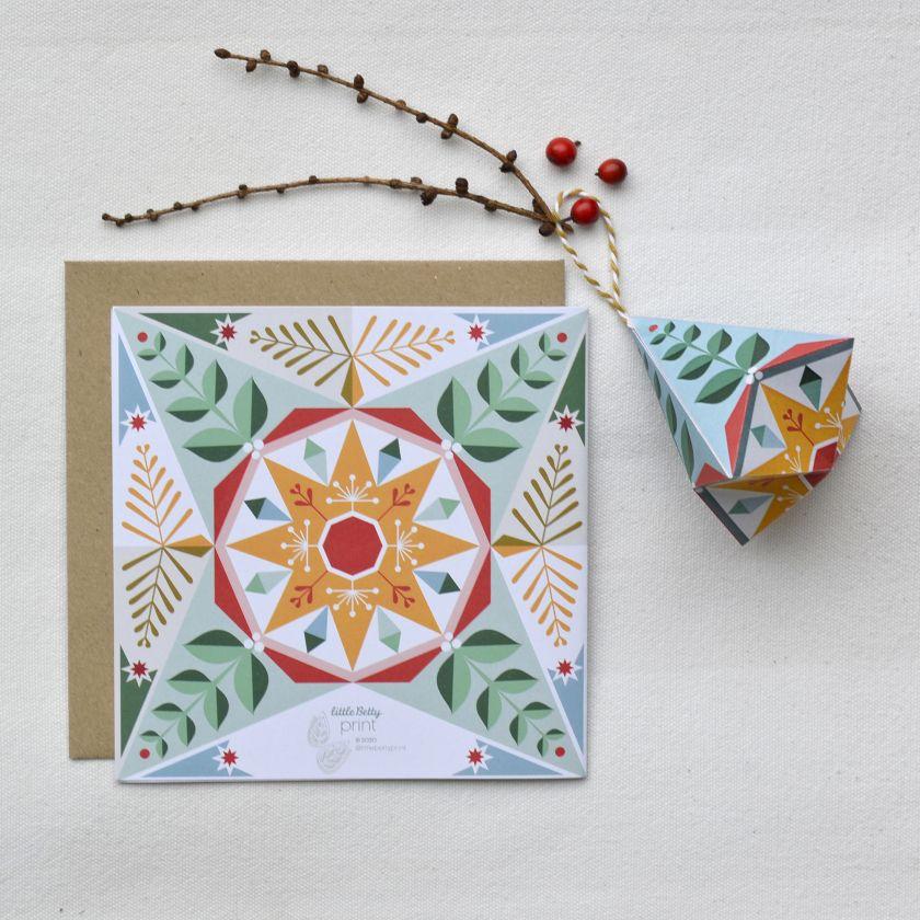Sally Bamford's Origami Christmas cards