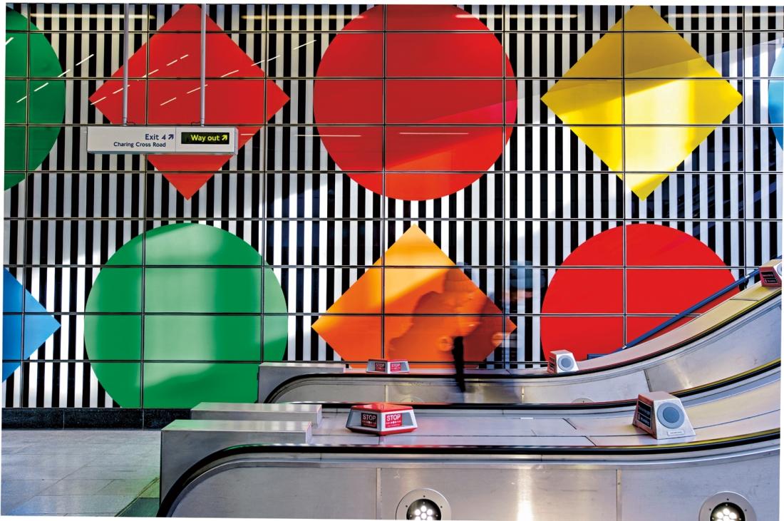 Daniel Buren S Artwork Of Shapes Colours And Trademark Stripes Launches At Tottenham Court Road Creative Boom