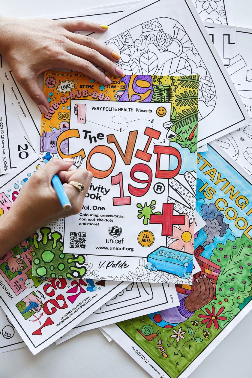 Artists and designers unite globally to create 'colouring posters' and help UNICEF fight Covid-19