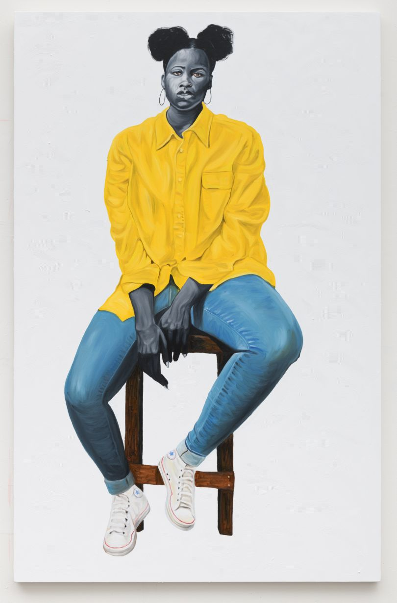 Otis Kwame Kye Quaicoe Portrait in Yellow, 2019. Courtesy of the Artist and Roberts Projects, Los Angeles, California