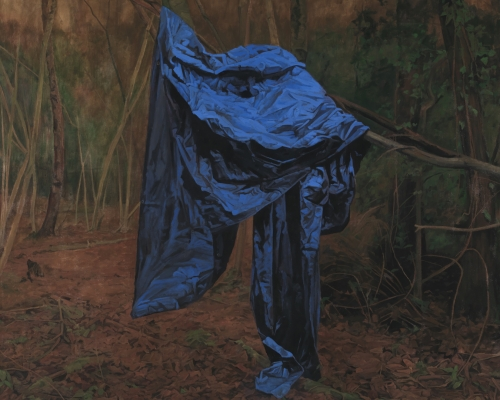 George Shaw, The Rude Screen, 2015-2016, Enamel on canvas, 178.5 × 198 cm. Credit: © Courtesy: The Artist and Wilkinson Gallery, London