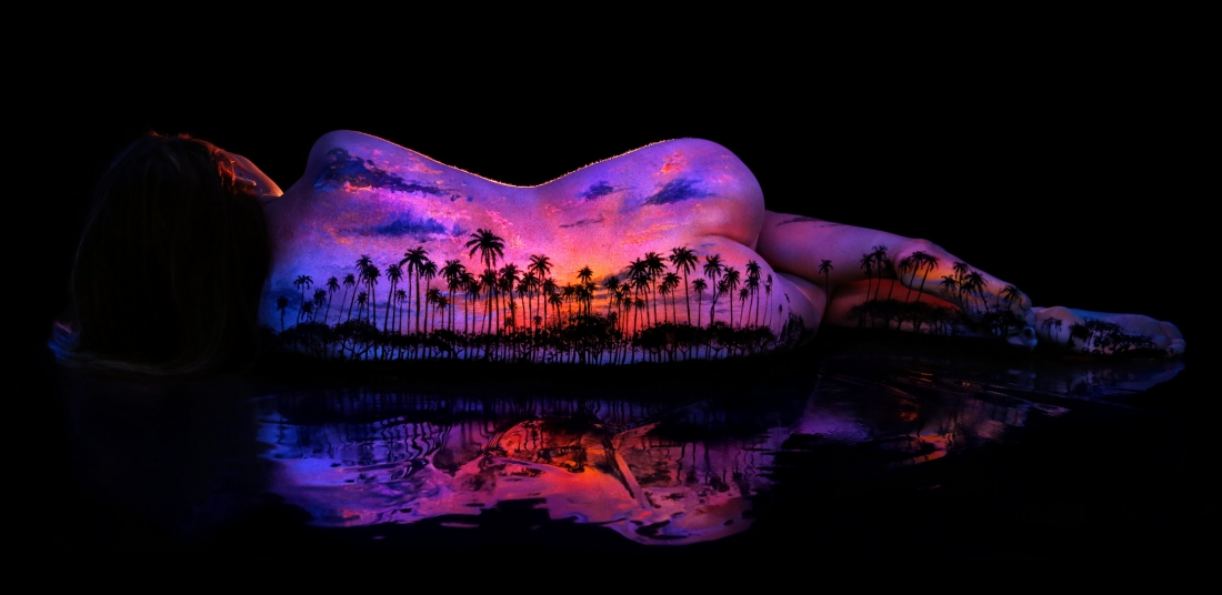 Bodyscapes Black Light Body Painting That Beautifully Glows In The Dark Creative Boom