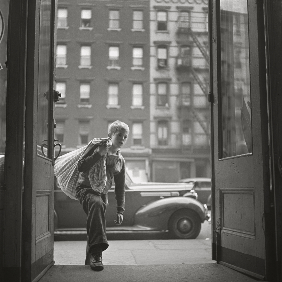 """Stanley Kubrick, from """"Shoeshine Boy,"""" 1947. Copyright: © SK Film Archives/Museum of the City of New York"""