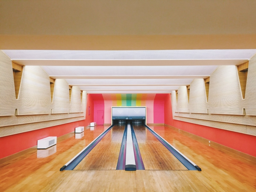 "The bowling alley in our ""Pleasure Palace"" — it was absurd."