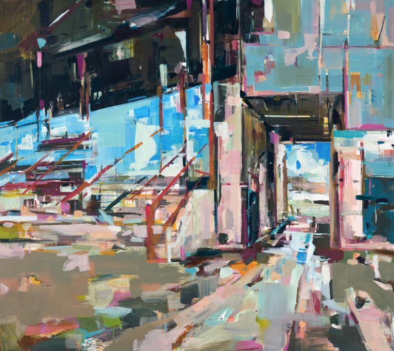 Best Seat, oil on canvas, 80x90cm. © Katharine Le Hardy