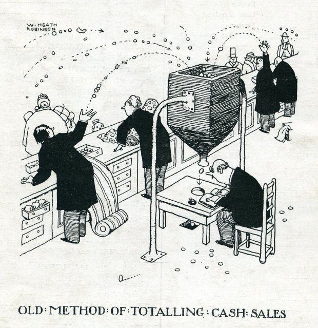 Old method of totalling cash sales