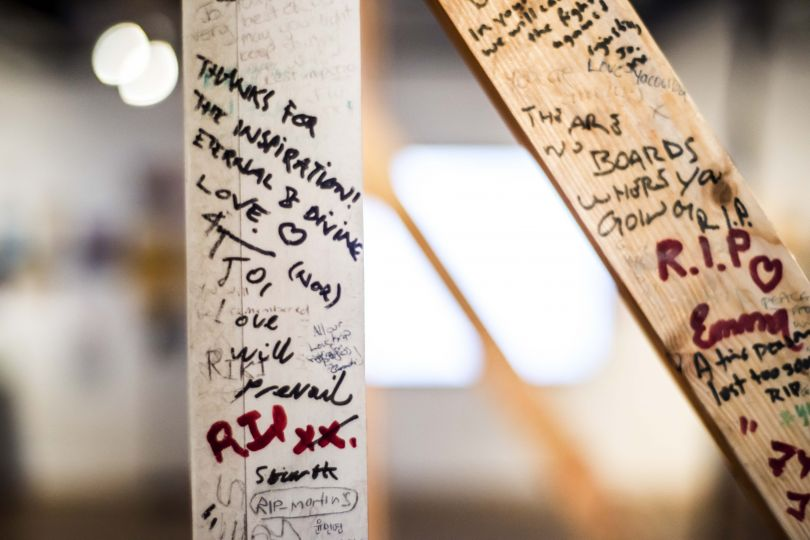 Jo Cox Memorial Wall, 2016 (detail). More in Common - in memory of Jo Cox exhibition at People's History Museum