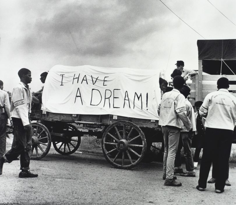 Mule Train leaves for Washington, Poor People's March, Marks, MS, May 1968 © Estate of Ernest C Withers. Courtesy of Michael Hoppen Gallery