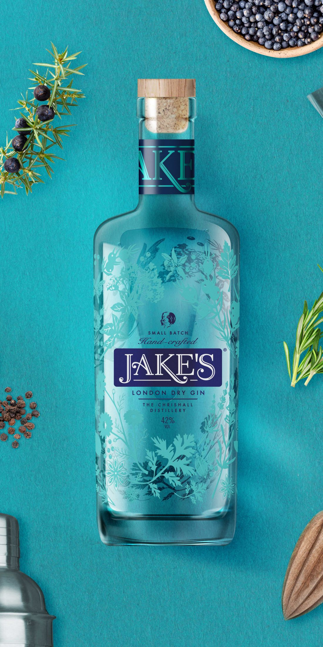 Design Activity's exquisite packaging design for handmade, small-batch Jake's Gin