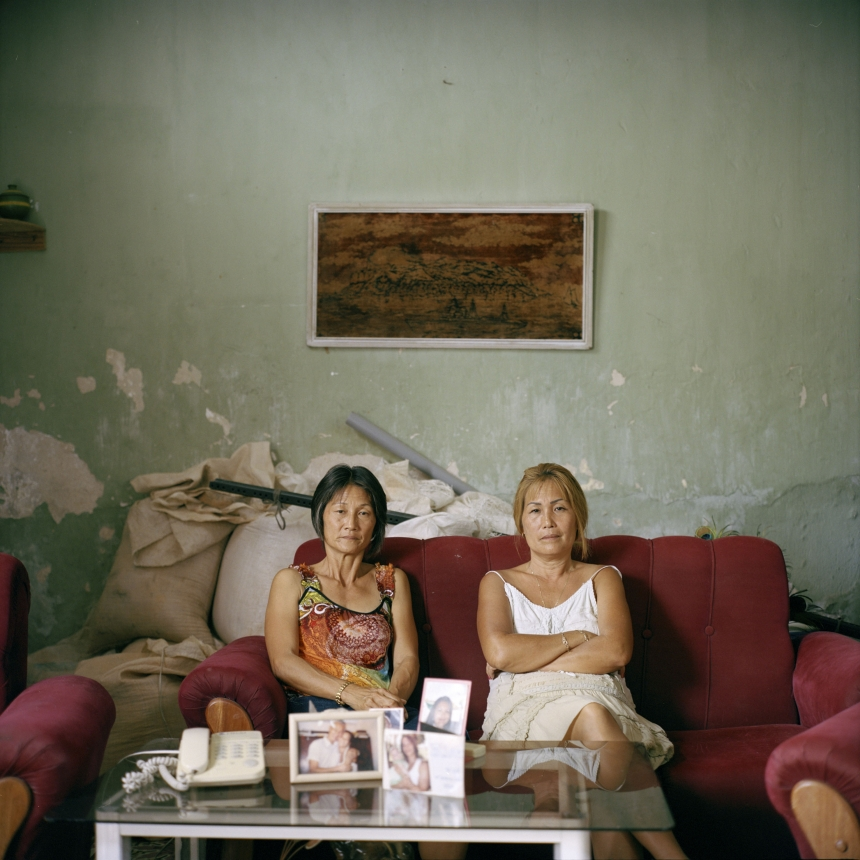 Sisters Olga and Adelina Lim Hi are among the few Korean-Cubans who do not have a mixed heritage. From the series 'Aenikkaeng' © Michael Vince Kim