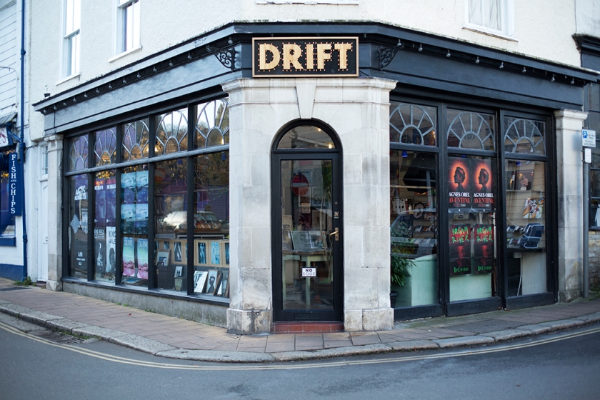Storefront, Drift Records, Totnes, Devon, November, 2013