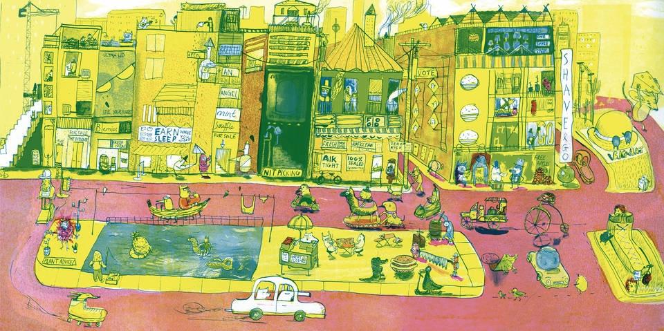 Student Illustrator of the Year 2018, Joseph Namara Hollis, The Big City, Anglia Ruskin University
