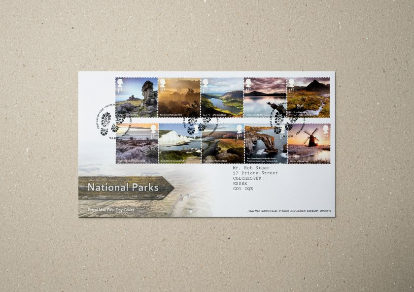 National Parks Presentation Pack with stamps