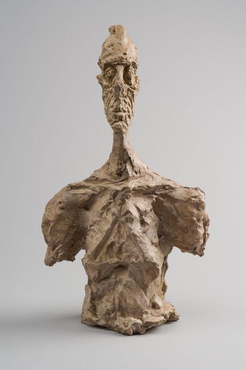Bust of Diego  c.1956 Plaster 37.3 x 21.5 x 13 cm Collection Fondation Alberto et Annette Giacometti, Paris © Alberto Giacometti Estate, ACS/DACS, 2017
