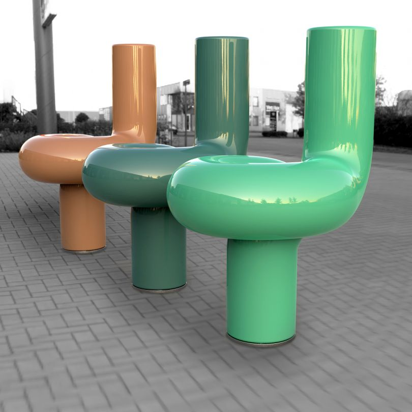Lumino Single Street Bench by Vasil Velchev. Winner in the Street Furniture Design Category, 2019-2020.