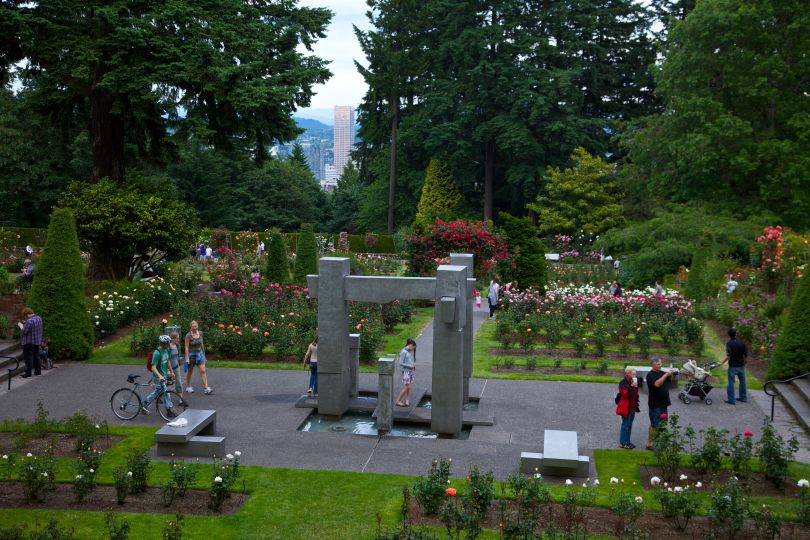 International Rose Test Garden. Image courtesy of Travel Portland