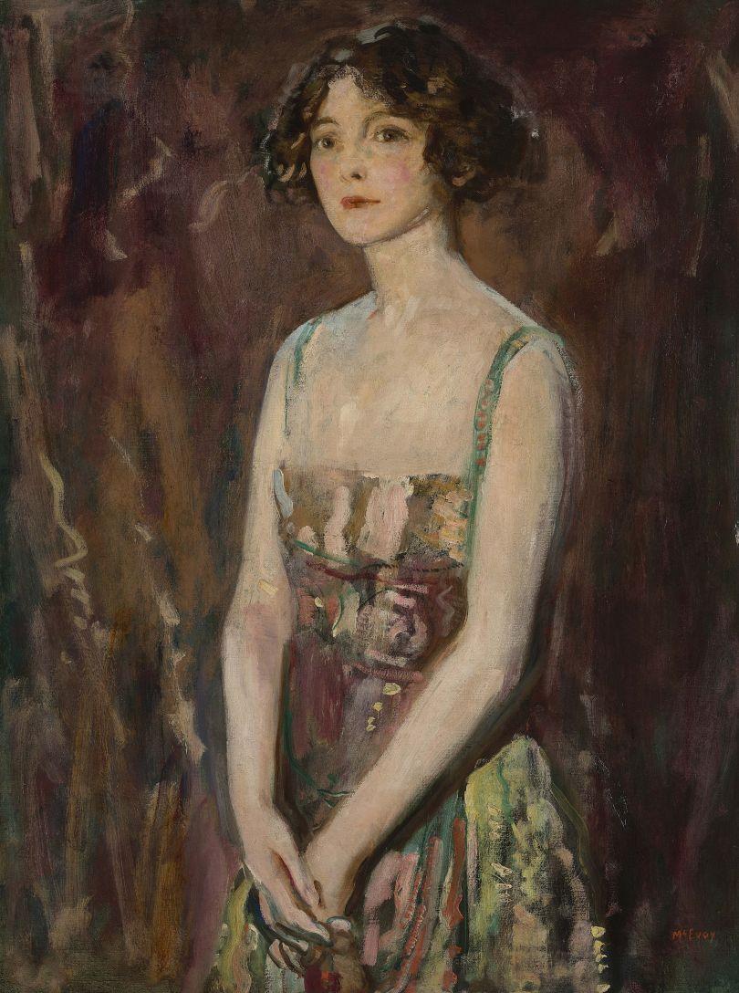 Portrait of a Lady, c.1920 – Ambrose McEvoy (1877-1927). Copyright Philip Mould & Company