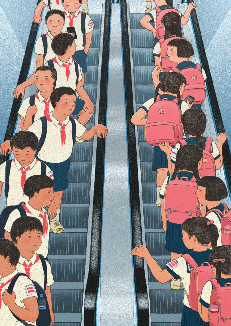 Boys and girls should stay away from each other © Xinmei Liu