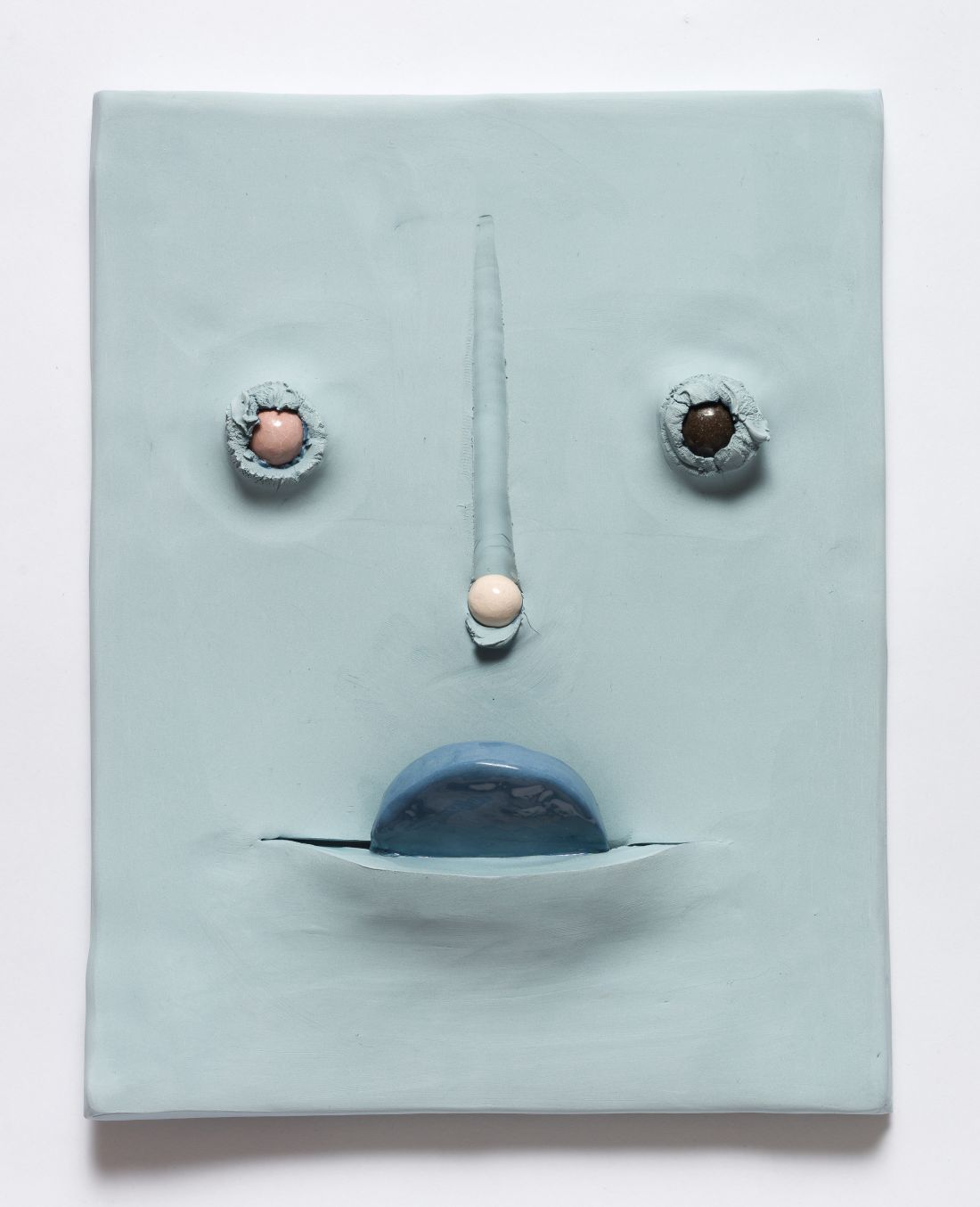 Witty ceramic masks by Jonathan Baldock that convey a world of emotion