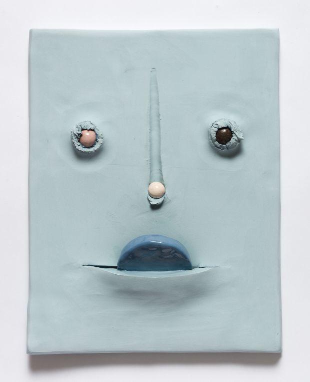 Jonathan Baldock, Maske III, 2019, ceramic, 31 x 35 cm. Copyright Jonathan Baldock. Courtesy of the artist and Stephen Friedman Gallery, London. Via Creative Boom submission.