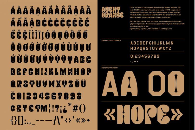 Agent Orange Typeface, Gydient, 2019