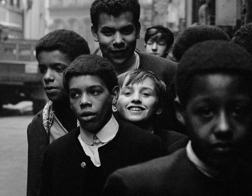 Astrid Kirchherr, Boys outside of the Cavern Club, 1964