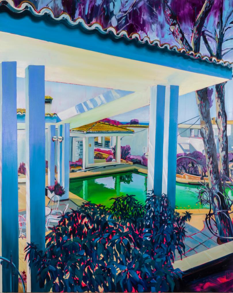 American House (2019), Rex Southwick. Oil on canvas, 122x153cm