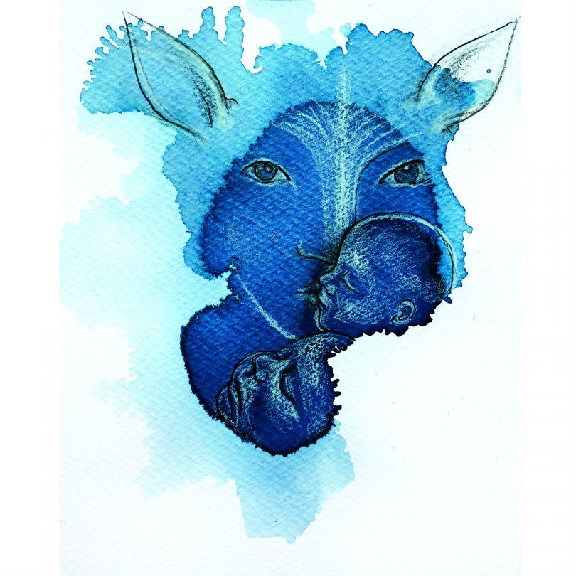 Splash Illustration by Maria Bradovkova. Winner in the Arts, Crafts and Ready-Made Design Category, 2019-2020.