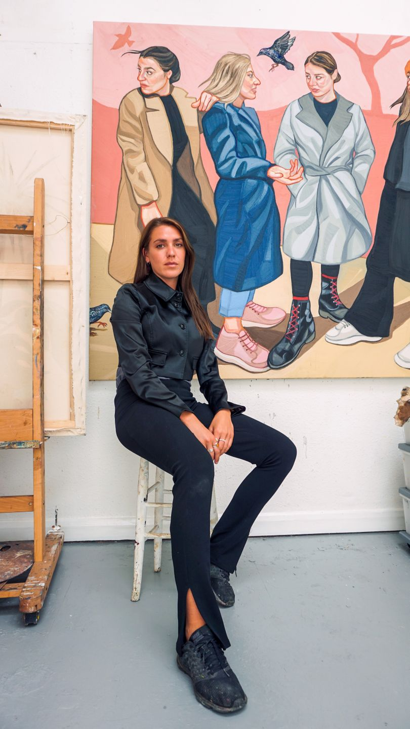 Ania Hobson in her studio
