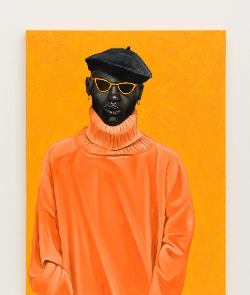 Otis Kwame Kye Quaicoe Orange Turtleneck, 2019. Courtesy of the Artist and Roberts Projects, Los Angeles, California