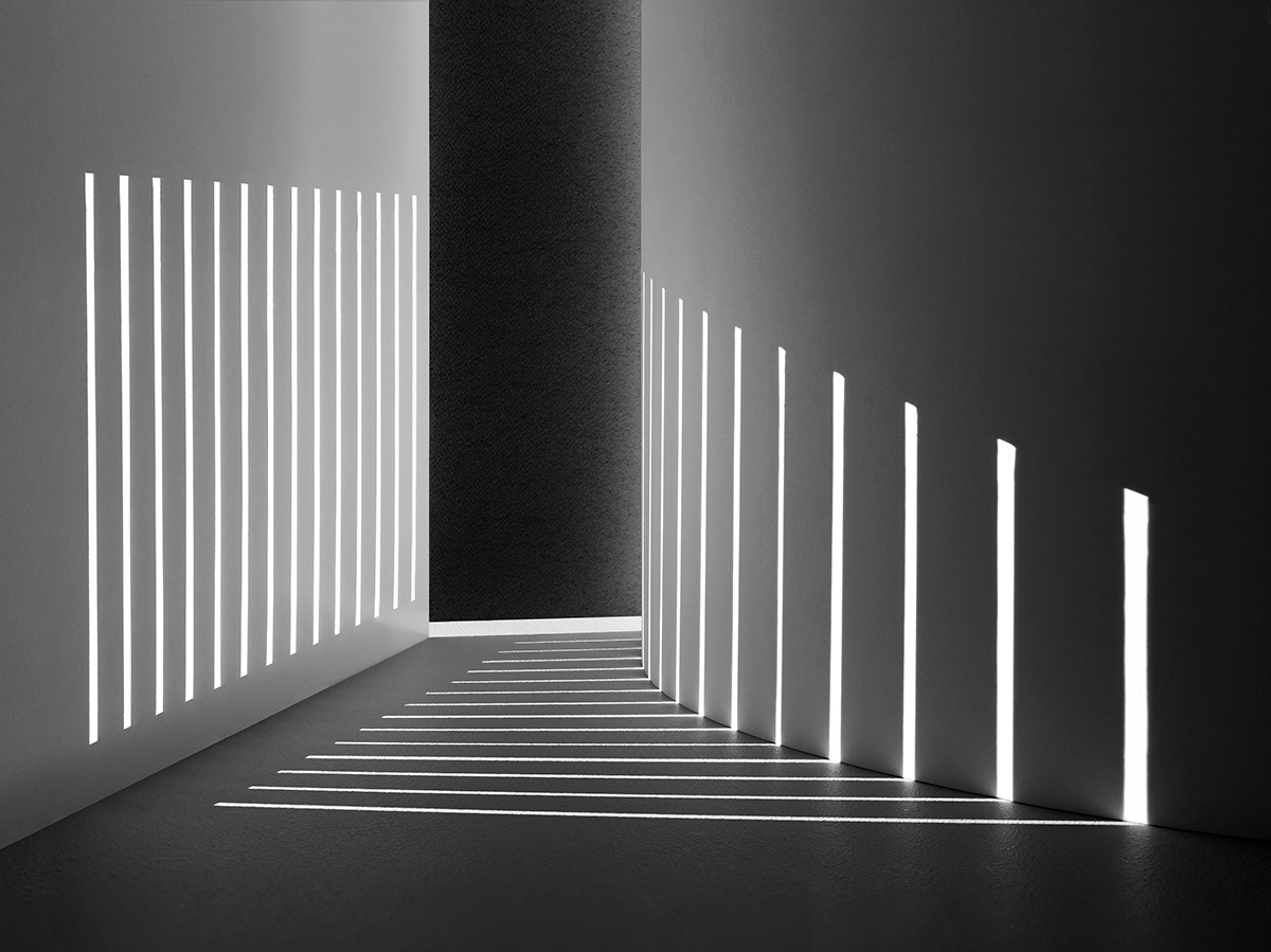 Shadow spaces miniature architecture crafted from paper for Archi light