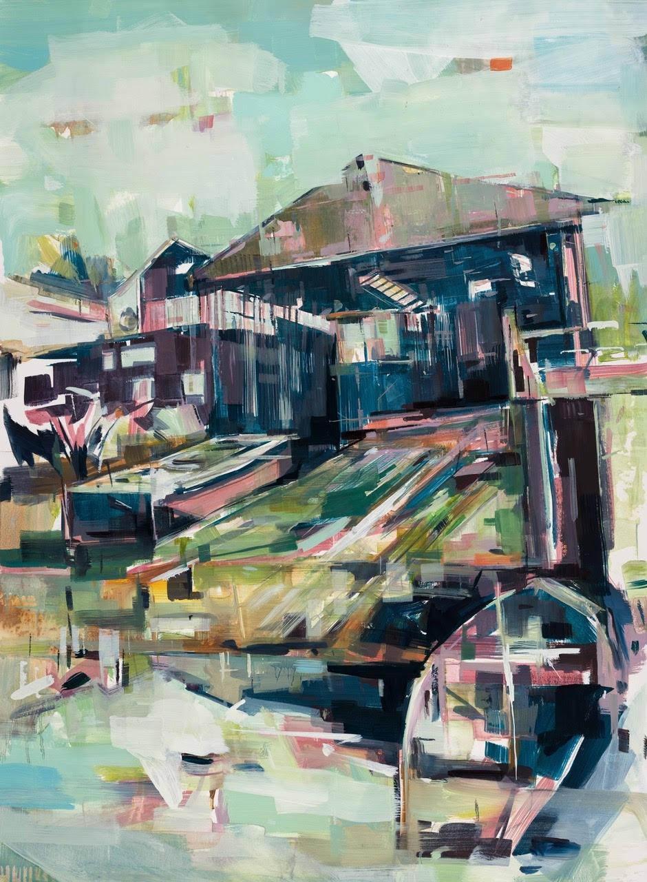 """""""Slip Away"""", oil on panel 110 x 80cm"""