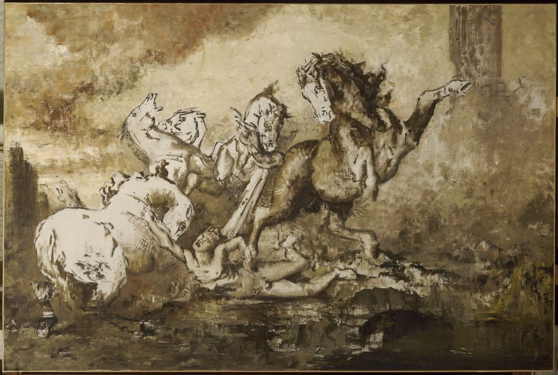 Gustave Moreau (1826–1898) Diomedes devoured by his Horses, date unknown Oil on canvas, 130 × 196 cm Musée national Gustave Moreau, Paris (Rouleau 38, no. 1)