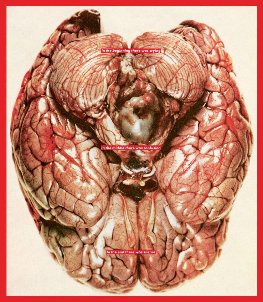 Barbara Kruger, Untitled (Brain), 2007, digital print on vinyl, 132 × 108 in. (335 × 274 cm), Private collection, Delaware, Courtesy of Art Finance Partners, LLC, © Barbara Kruger, digital image courtesy of the artist