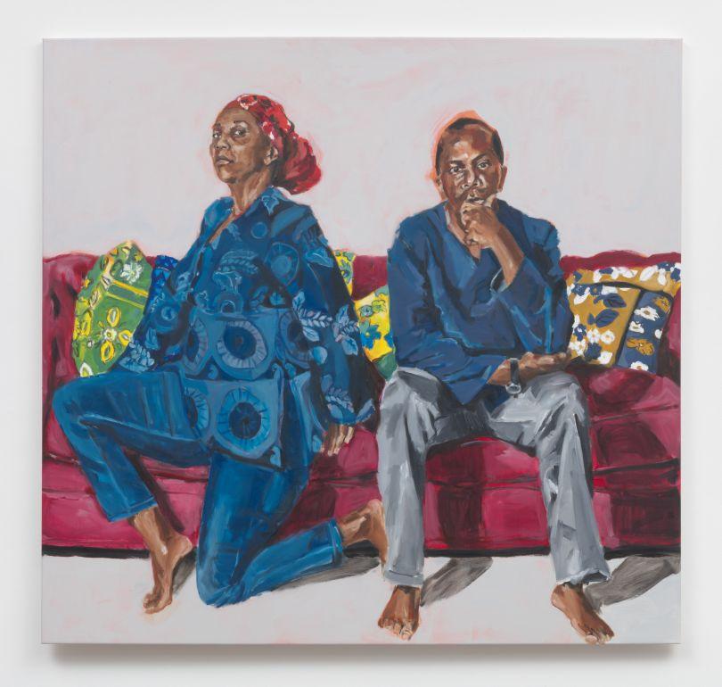 Wangari Mathenge The Ascendants, 2019 Oil on canvas 60 x 63 in (152.4 x 160.0 cm)