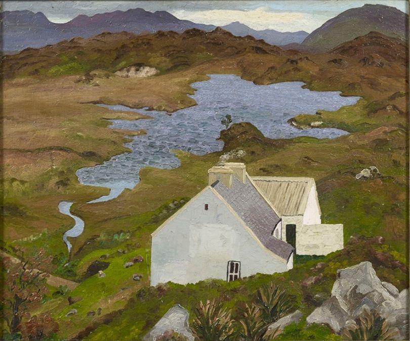 Connemara Landscape 1936, Connemara, County Galway, Ireland 24 x 29 in (60.9 x 73.7 cm) Oil on canvas ©Philip Mould & Company