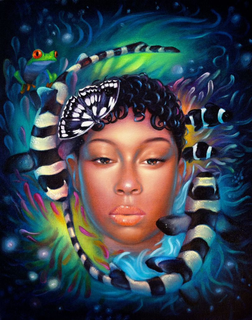 Bondi Bae, 2020, oil on canvas, 20 x 16 inches © Ryan Martin