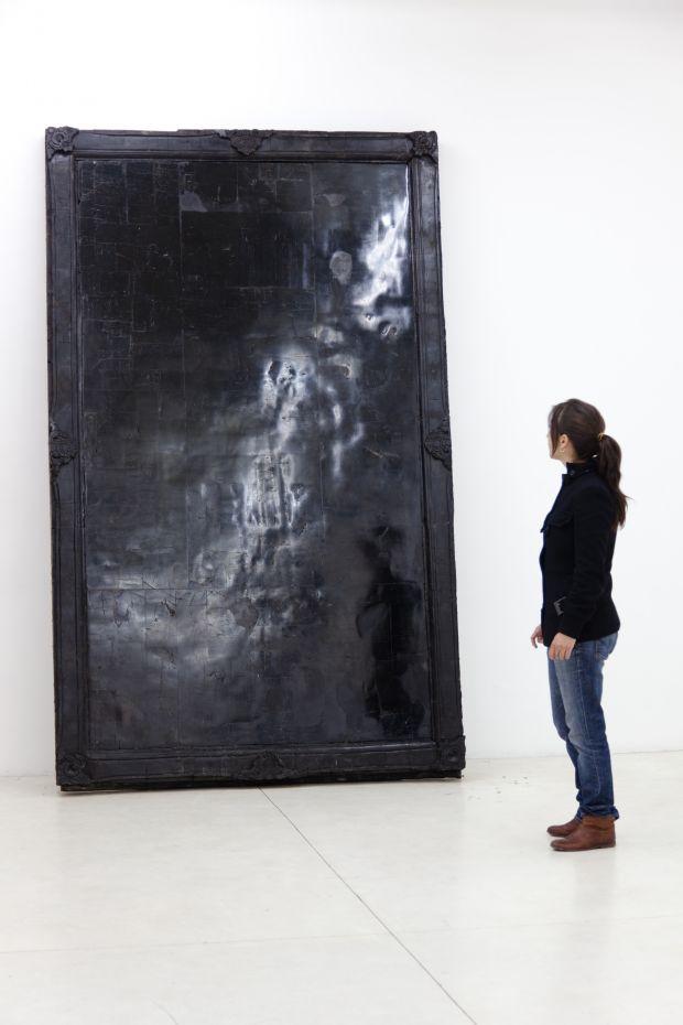 Alejandra Prieto Coal Mirror ( 2011),© Alejandra Prieto, 2011 Image courtesy of the Saatchi Gallery, London