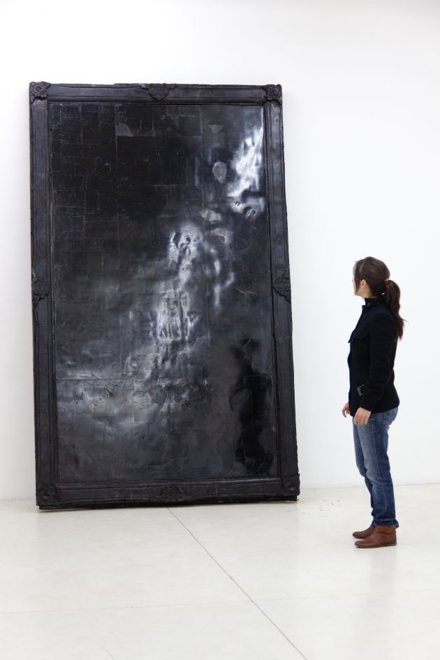 Alejandra Prieto Coal Mirror ( 2011),© Alejandra Prieto, 2011 Image courtesy of the Saatchi Gallery, London