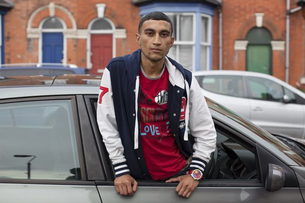 Mahtab Hussain Red t-shirt, baseball jacket, car from the series You Get Me? 2012 Courtesy the artist