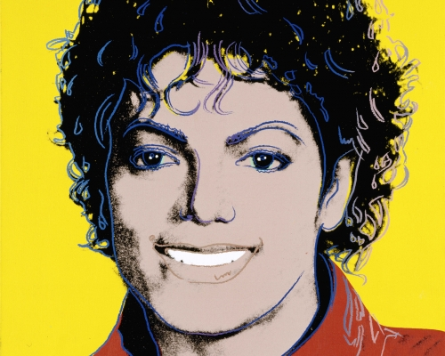 Michael Jackson, 1984 by Andy Warhol, National Portrait Gallery, Smithsonian Institution, Washington D. C.; Gift of Time magazine