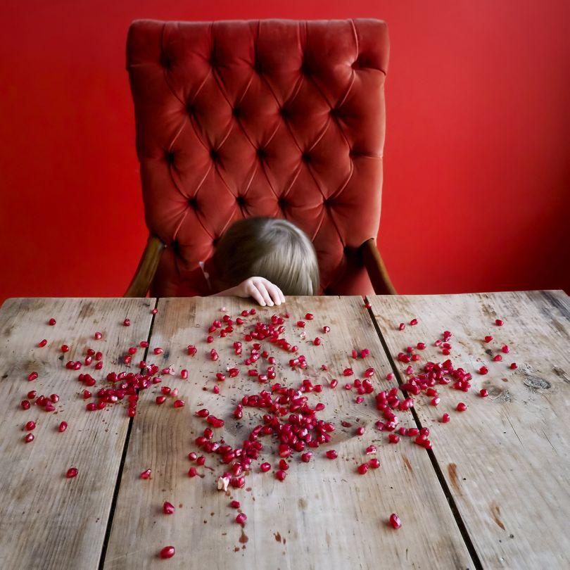 Pomegranate seeds, Rockport, Maine, 2012 © Cig Harvey courtesy Beetles + Huxley Gallery