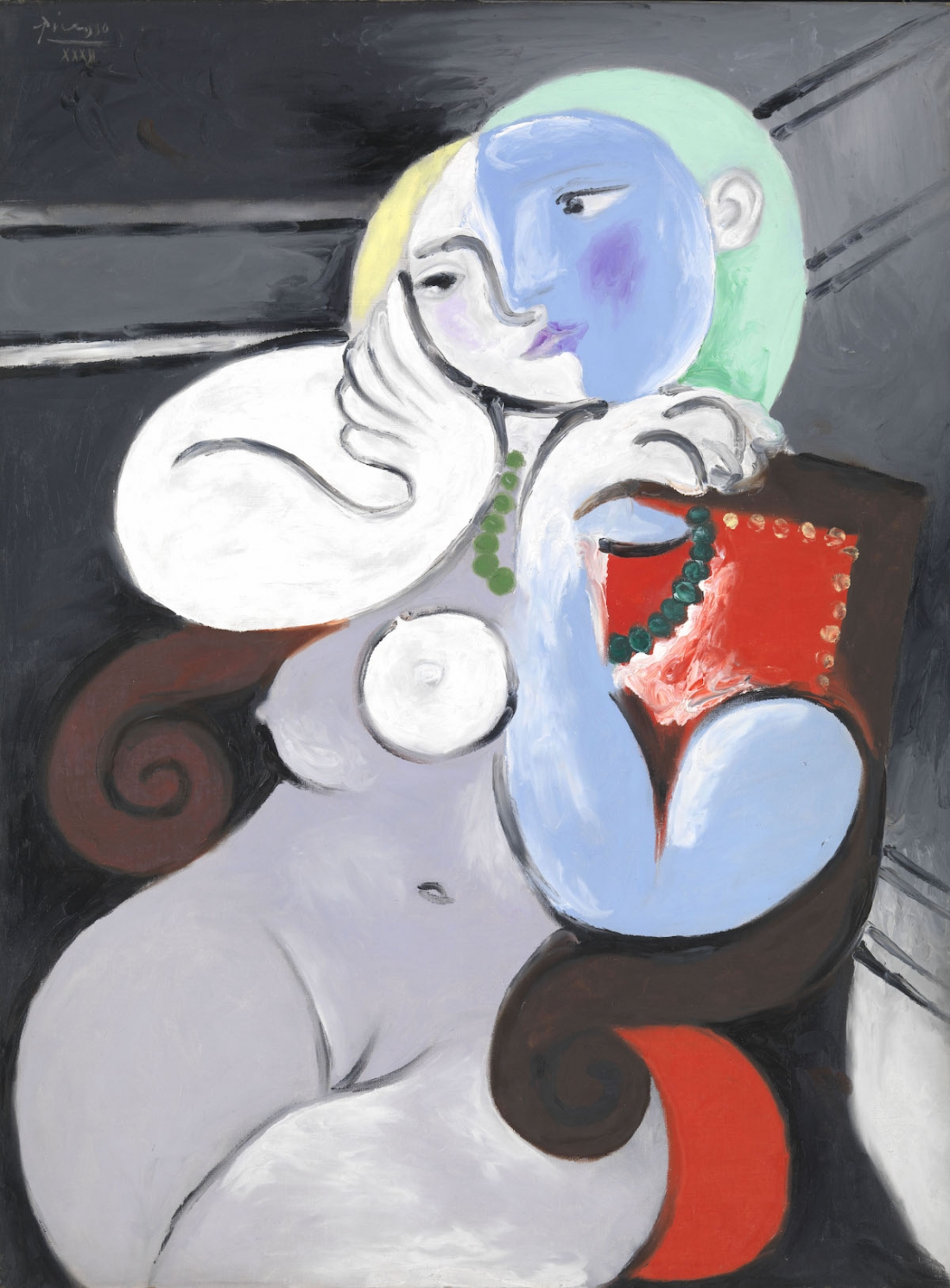 Pablo Picasso Nude Woman in a Red Armchair (Femme nue dans un fauteuil rouge) 1932 Oil paint on canvas 1299 x 972 mm Tate. Purchased 1953 © Succession Picasso/ DACS London, 2017